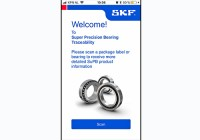 New App project for traceability of super-precision bearings